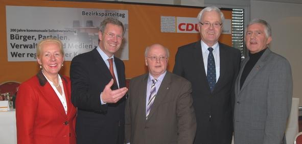 Anette Meyer Zu Strohen, Christian Wulff, Heinz Rolfes, Dr. Hermann Kues, Georg Schirmbeck